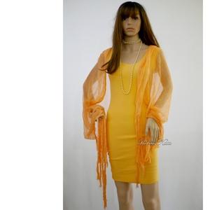 TRIKÓRUHA - narancs pamutruha  - ruha & divat - női ruha - ruha - Meska.hu