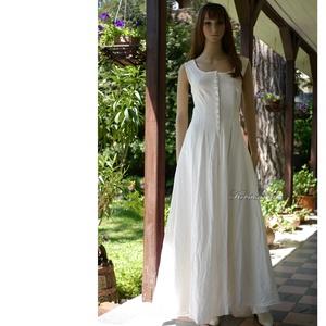 KÍRA KIRTLE - romantikus lenvászon hosszú ruha, Ruha & Divat, Ruha, Női ruha, Varrás, Meska
