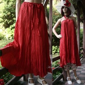 CHERRY SELYEMSZOKNYA - körgloknis hosszú-szoknya, ruha  - ruha & divat - női ruha - szoknya - Meska.hu