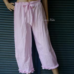 TULIPÁN - romantikus lagenlook nadrág , Ruha & Divat, Női ruha, Nadrág, Varrás, Nyomott mintás könnyű pamutvászonból terveztem ezt a jól használható nyári modellemet. \nKényelmes, b..., Meska