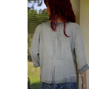 TULI-BLÚZ - romantikus vászonblúz  - ruha & divat - női ruha - blúz - Meska.hu