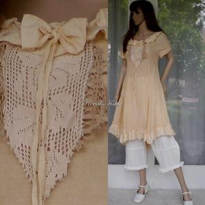 EMMY-PEACH - shabby chic design-ruha , Ruha & Divat, Női ruha, Ruha, Varrás, Festett tárgyak, Meska
