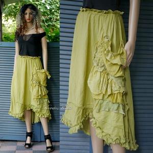 MIRJAM-SZOKNYA - artsy lagenlook design - ruha & divat - női ruha - szoknya - Meska.hu