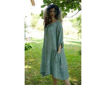 IBI-RUHA / pasztell-zöld flapper ruha , Ruha & Divat, Női ruha, Ruha, Festett tárgyak, Varrás, Meska