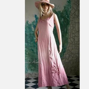 AKVARELLA - shabby chic design-ruha / rózsaszín, Ruha & Divat, Ruha, Női ruha, Varrás, Festett tárgyak, Meska