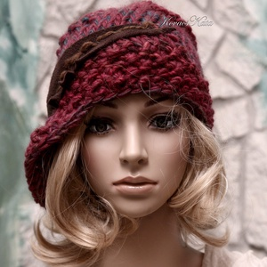 CLOCHE-ART kötött kalap, sapka - ruha & divat - sál, sapka, kendő - kalap - Meska.hu