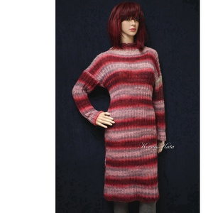 COLOR-ART - kézzel kötött pulóver ruha - Meska.hu