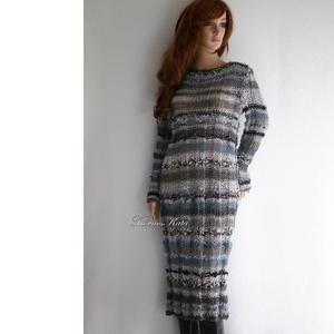 BORDÁS CSŐRUHA - kézzel kötött pulóver ruha - ruha & divat - női ruha - pulóver & kardigán - Meska.hu