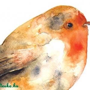 Vörösbegy - Print (Akvarell) (bubadesign) - Meska.hu