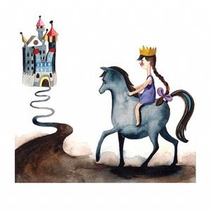 Királylány - Print (Akvarell) (bubadesign) - Meska.hu