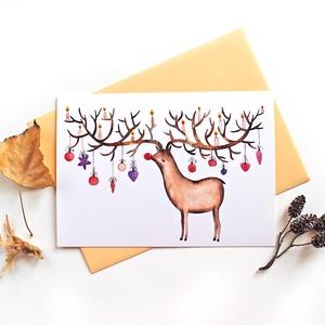 Ünnepi hangulatban - Képeslap borítékkal (A/6), Karácsony & Mikulás, Karácsonyi képeslap, Fotó, grafika, rajz, illusztráció, A/6-os méretű képeslap, barack színű borítékkal.\n\n250 grammos, szuperfényes, kiváló minőségű papírra..., Meska