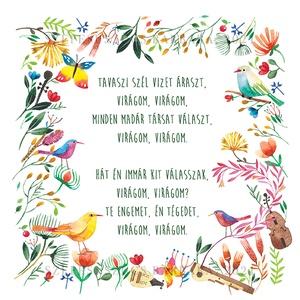 Virágom, virágom - Print, Esküvő, Emlék & Ajándék, Nászajándék, Fotó, grafika, rajz, illusztráció, A print A/4-es, 300 g/m2-es papírra van nyomtatva.\n\nMindegyik nyomatot szignózva, illetve évszámmal ..., Meska