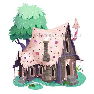 Print / Mézeskalács házikó, Otthon & Lakás, Dekoráció, Kép & Falikép, Fotó, grafika, rajz, illusztráció, Az illusztráció A/4-es, 300 g/m2-es papírra van nyomtatva.\n\nMindegyik nyomat szignóval és évszámmal ..., Meska