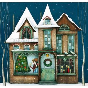 Szentséges éj - Print , Karácsony & Mikulás, Karácsonyi dekoráció, Fotó, grafika, rajz, illusztráció, A print A/4-es, 300 g/m2-es papírra van nyomtatva.\nAz illusztráció mérete: kb. 28 x 20 cm\n\nMindegyik..., Meska