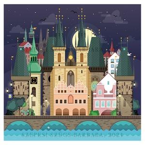 Prága - Print (Digitális), Művészet, Művészi nyomat, Fotó, grafika, rajz, illusztráció, Digitális illusztráció, a print A/4-es, 300 g/m2-es papírra van nyomtatva. \nAz illusztráció mérete: ..., Meska
