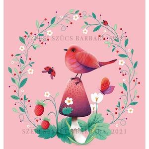 Isten hozott, Tavasz! - Print (Digitális), Játék & Gyerek, Babalátogató ajándékcsomag, Fotó, grafika, rajz, illusztráció, A print A/4-es, 300 g/m2-es papírra van nyomtatva.\nAz illusztráció mérete: kb. 20 x 28 cm\n\nMindegyik..., Meska