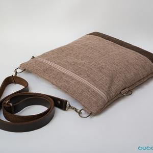 VARIA kollekció - Állítható valódi bőr pántos szaladgálós táska (buboxa) - Meska.hu