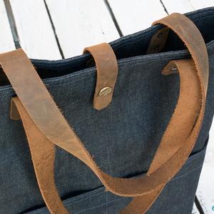RUTINUS kollekció - Waxos farmer táska valódi bőr kiegészítőkkel (buboxa) - Meska.hu