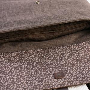NOCTUA kollekció - barna szövet-barna bőr hátizsák, oldal-, vagy válltáska (buboxa) - Meska.hu