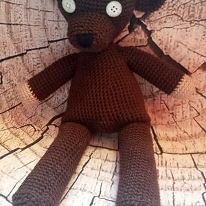 Mr.Bean Teddy maci, Maci, Plüssállat & Játékfigura, Játék & Gyerek, Horgolás, Teddy mérete 31x14cm.\nMinőségi pamut fonalból készül hipoallergén tömőanyaggal.\n\nSzemélyes átvétel D..., Meska