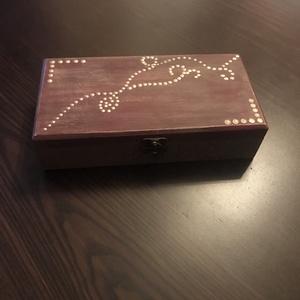 bordó-barna fa doboz (butorlelek) - Meska.hu