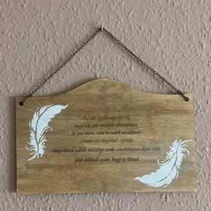 """Idézetes fa  tábla - Az élet egyik szépsége...., Otthon & Lakás, Dekoráció, Táblakép, Festett tárgyak, \""""Az élet egyik szépsége az, hogy bár sok mindent elveszíthetsz, de azt sosem, amit te adtál másoknak..., Meska"""