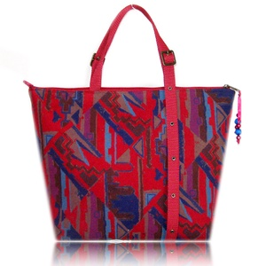 """CITY - Bordó-barna-kék-lila mintás táska, Táska, Táska, Divat & Szépség, Válltáska, oldaltáska, Varrás, Elegáns, egyszerű és egyedi.\n\nKlasszikus fazonú, jól pakolható ,,városi\"""" táska. Anyaga színes (piros..., Meska"""