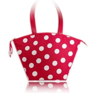 Piros-fehér,  pöttyös táska (2,5) (byBERNA) - Meska.hu
