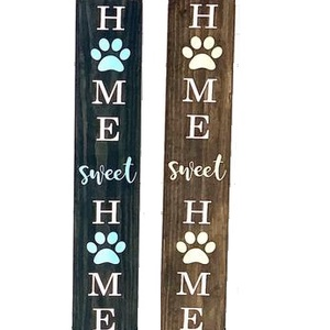 Home Sweet Home tábla , Otthon & lakás, Dekoráció, Dísz, Lakberendezés, Ajtódísz, kopogtató, Utcatábla, névtábla, Famegmunkálás, Festett tárgyak, Köszöntő tábla kutyásoknak, vagy kutyát kedvelőknek. Támasztható kivitelben készül, amelyet a bejára..., Meska