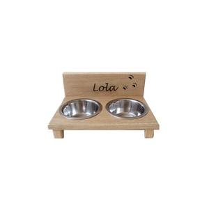 Lola etető dupla, Otthon & lakás, Bútor, Polc, Lakberendezés, Állatfelszerelések, Kutyafelszerelés, Famegmunkálás, 2 tálkás etető/itató kistestű kutyák számára. A tálak könnyen kiemelhetőek és tisztíthatóak.\nA tálak..., Meska