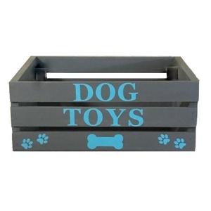 """Játéktároló faláda \"""" Dog Toys\"""", Otthon & lakás, Bútor, Lakberendezés, Állatfelszerelések, Kutyafelszerelés, Tárolóeszköz, Doboz, Famegmunkálás, Festett tárgyak, A kutyusodnak is van jópár játéka? Most már szükséged lenne egy tárolóra amelybe összeszedheted és e..., Meska"""