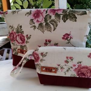 Dupla neszesszer!! Vászon  neszesszer anyák napi ajándék kozmetikai táska, ajándék nőknek (BYildi) - Meska.hu