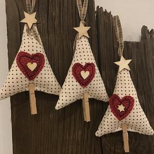 Textil függök,karácsonyi dísz lakásdekoráció vászon függők, Karácsony & Mikulás, Karácsonyfadísz, Textil függők, karácsonyi dísz lakás dekoráció vászon függők  Mutatós textil díszek a karácsonyfára,..., Meska