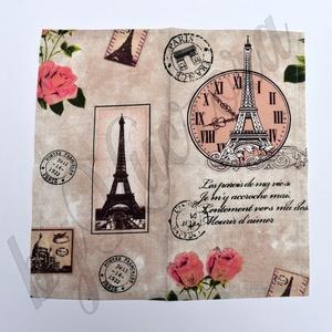 Textil zsebkendő szett, öko zsebkendő szett - Párizs, Eiffel-torony, romantika (byKuczora) - Meska.hu