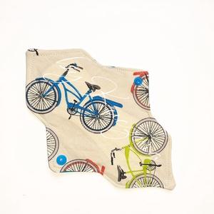 23 cm-es mosható intim betét, női betét - bicikli, kerékpár #1, Táska, Divat & Szépség, Szépség(ápolás), Egészségmegőrzés, Fürdőszobai kellék, NoWaste, Textilek, Varrás, 23 cm-es mosható intim betét, női betét - bicikli, kerékpár #1\n\nTest felőli réteg: színes pamutvászo..., Meska
