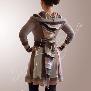Bohém stílusú kabátka - közepes hosszúságú 36-os méret, Ruha & Divat, Női ruha, Kabát, Varrás, Újrahasznosított alapanyagból készült termékek, Közepes hosszúságú bohém kabátka, de kardigánként is használható.\nÚjrahasznosított pulóverekből, mel..., Meska