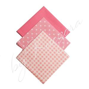 Textil zsebkendő szett, öko zsebkendő szett - rózsaszín, Táska & Tok, Pénztárca & Más tok, Zsebkendőtartó, Varrás, Textil zsebkendő - öko zsebkendő - rózsaszín\n\nFinom pamutvászonból készült zsebkendő szett, mely 3 d..., Meska