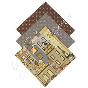 Textil zsebkendő szett, öko zsebkendő szett - házikók, Táska & Tok, Pénztárca & Más tok, Zsebkendőtartó, Varrás, Textil zsebkendő - öko zsebkendő - házikók\n\nFinom pamutvászonból készült zsebkendő szett, mely 3 dar..., Meska