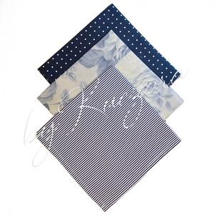 Textil zsebkendő szett, öko zsebkendő szett - kék, Táska & Tok, Pénztárca & Más tok, Zsebkendőtartó, Varrás, Textil zsebkendő - öko zsebkendő - kék\nFinom pamutvászonból készült zsebkendő szett, mely 3 darabból..., Meska