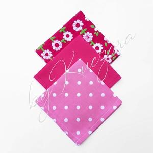 """Textil zsebkendő szett, öko zsebkendő szett - pink, Táska & Tok, Pénztárca & Más tok, Zsebkendőtartó, Varrás, Textil zsebkendő szett, öko zsebkendő szett - pink\n\n\""""S\"""" méret: 25*25 cm\nAjánlom felnőtteknek, ha a k..., Meska"""