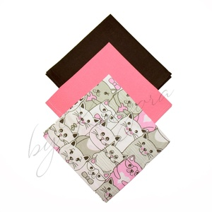 Textil zsebkendő szett, öko zsebkendő szett - cicás, Táska & Tok, Pénztárca & Más tok, Zsebkendőtartó, Varrás, Textil zsebkendő - öko zsebkendő - cicás\n\nFinom pamutvászonból készült zsebkendő szett, mely 3 darab..., Meska