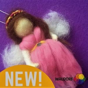 waldorfART- waldorf gyapjú tündér, Baba & babaház, Játék & Gyerek, Nemezelés, Gyapjúból készült, tavaszt idéző felakasztható waldorf jellegű tündérke, Meska
