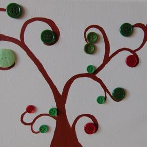 Piros és zöld gomb-fa (CalendulaArt) - Meska.hu