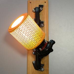 Autóalkatrészből fali lámpa (Cali2) - Meska.hu