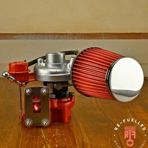 Autó alkatrészből  készült asztali lámpa, Otthon & Lakás, Lámpa, Asztali lámpa, Újrahasznosított alapanyagból készült termékek, Mindenmás, Meska
