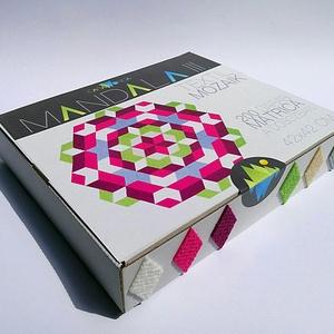Textil mozaik matrica készlet - MANDALA III. , Dekoráció, Otthon & lakás, Lakberendezés, Játék, Gyerek & játék, Készségfejlesztő játék, Mozaik, Újrahasznosított alapanyagból készült termékek, A caraWonga mandalái egy olyan DIY készlet, mely öntapadós, színes textil mozaik darabkákat tartalma..., Meska