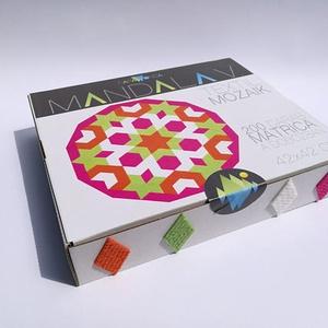 Textil mozaik matrica készlet -MANDALA V., Dekoráció, Otthon & lakás, Lakberendezés, Játék, Gyerek & játék, Készségfejlesztő játék, Mozaik, Újrahasznosított alapanyagból készült termékek, Textil mozaik matrica készlet - MANDALA V. leírása\nkésztermék, azonnal szállítható \n\n\nA caraWonga ma..., Meska