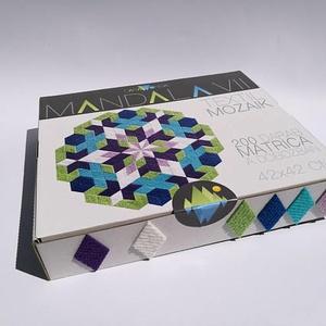 Textil mozaik matrica készlet- MANDALA VII., Játék, Gyerek & játék, Dekoráció, Otthon & lakás, Készségfejlesztő játék, Lakberendezés, Újrahasznosított alapanyagból készült termékek, Mozaik, A caraWonga mandalái egy olyan DIY készlet, mely öntapadós, színes textil mozaik darabkákat tartalma..., Meska