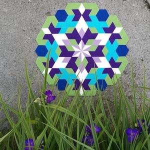 Textil mozaik matrica készlet- MANDALA VII., Ragasztó, Textil, Mozaik, Mindenmás, A caraWonga mandalái egy olyan DIY készlet, mely öntapadós, színes textil mozaik darabkákat tartalma..., Meska