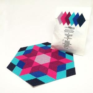 Mozaik matrica csomag 2. 60 db , Játék, Gyerek & játék, Készségfejlesztő játék, Mozaik, A caraWonga mozaik matricák egy 60 db-os készlet, mely öntapadós, színes textil mozaik darabkákat ta..., Meska